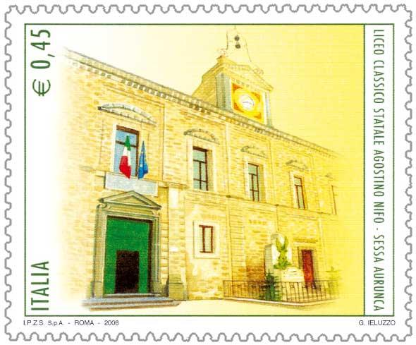 Liceo_Agostino_Nifo_francobollo